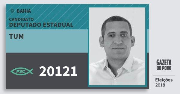 Santinho Tum 20121 (PSC) Deputado Estadual | Bahia | Eleições 2018