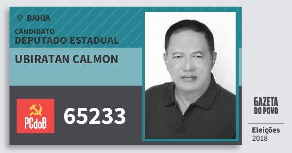 Santinho Ubiratan Calmon 65233 (PC do B) Deputado Estadual | Bahia | Eleições 2018