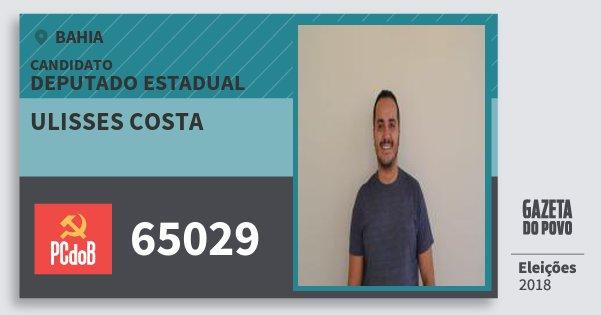 Santinho Ulisses Costa 65029 (PC do B) Deputado Estadual | Bahia | Eleições 2018