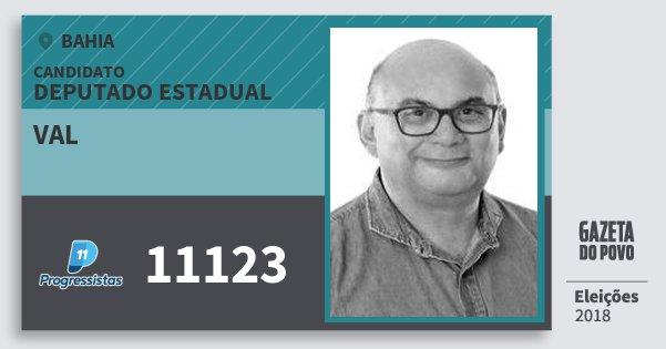 Santinho Val 11123 (PP) Deputado Estadual | Bahia | Eleições 2018