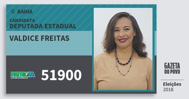Santinho Valdice Freitas 51900 (PATRI) Deputada Estadual | Bahia | Eleições 2018