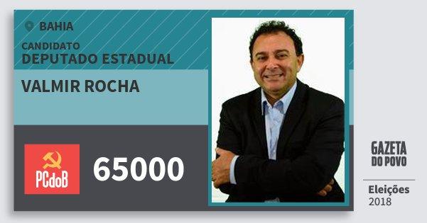 Santinho Valmir Rocha 65000 (PC do B) Deputado Estadual | Bahia | Eleições 2018