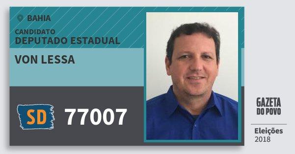 Santinho von Lessa 77007 (SOLIDARIEDADE) Deputado Estadual   Bahia   Eleições 2018