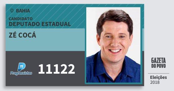 Santinho Zé Cocá 11122 (PP) Deputado Estadual | Bahia | Eleições 2018