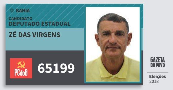 Santinho Zé das Virgens 65199 (PC do B) Deputado Estadual | Bahia | Eleições 2018
