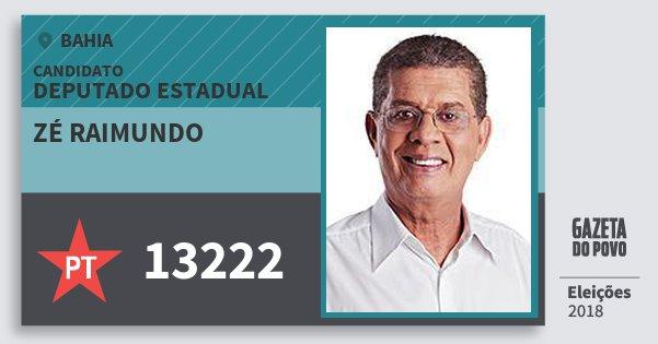 Santinho Zé Raimundo 13222 (PT) Deputado Estadual | Bahia | Eleições 2018