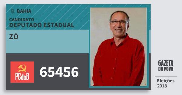 Santinho Zó 65456 (PC do B) Deputado Estadual | Bahia | Eleições 2018
