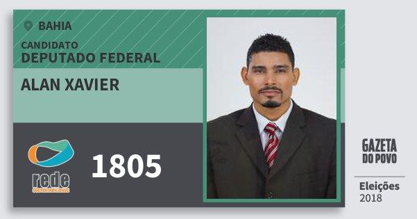 Santinho Alan Xavier 1805 (REDE) Deputado Federal | Bahia | Eleições 2018