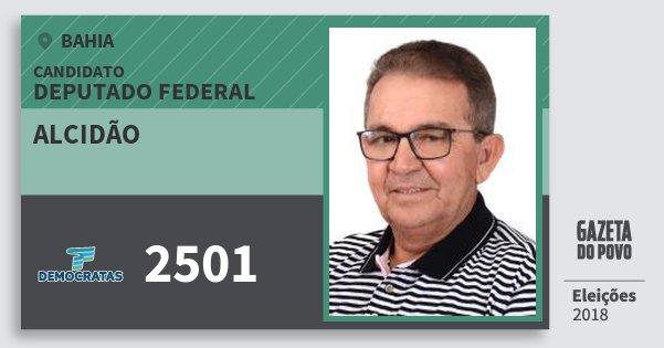 Santinho Alcidão 2501 (DEM) Deputado Federal | Bahia | Eleições 2018