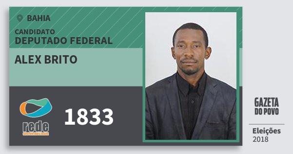 Santinho Alex Brito 1833 (REDE) Deputado Federal | Bahia | Eleições 2018