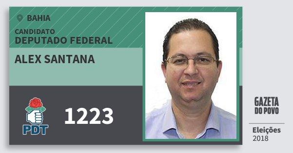 Santinho Alex Santana 1223 (PDT) Deputado Federal   Bahia   Eleições 2018