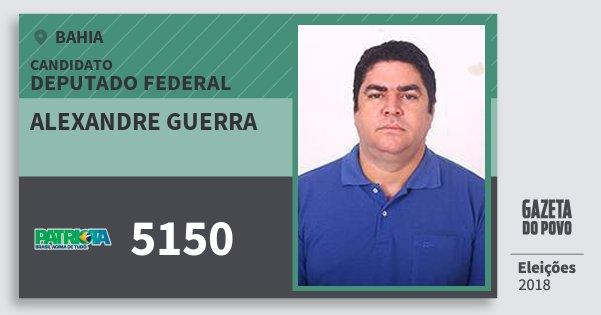 Santinho Alexandre Guerra 5150 (PATRI) Deputado Federal | Bahia | Eleições 2018
