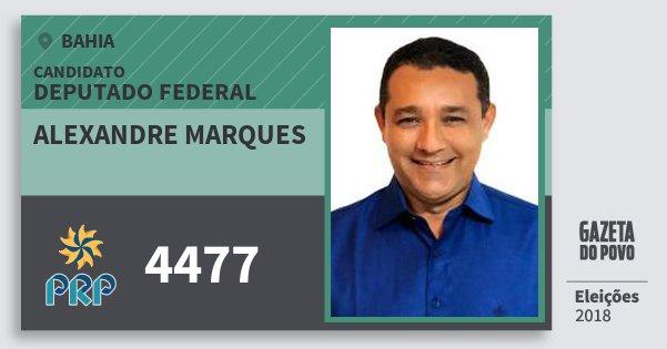 Santinho Alexandre Marques 4477 (PRP) Deputado Federal | Bahia | Eleições 2018