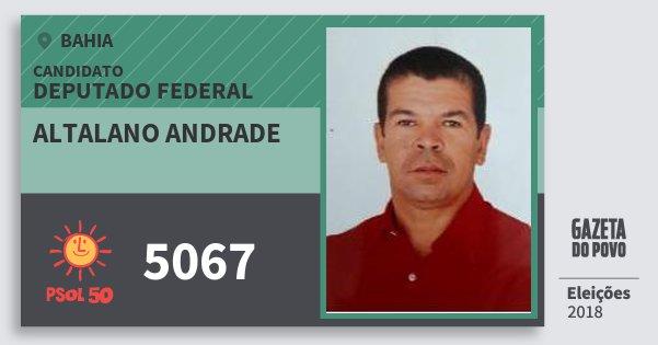 Santinho Altalano Andrade 5067 (PSOL) Deputado Federal | Bahia | Eleições 2018
