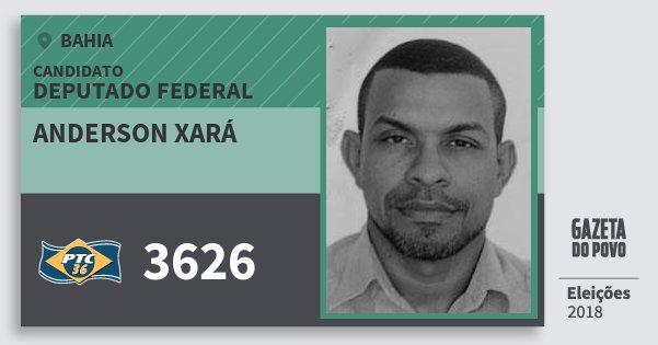 Santinho Anderson Xará 3626 (PTC) Deputado Federal | Bahia | Eleições 2018