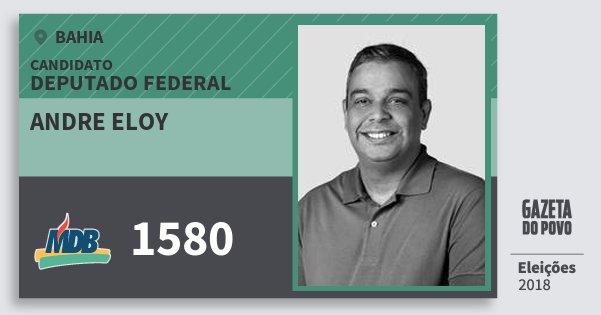 Santinho Andre Eloy 1580 (MDB) Deputado Federal | Bahia | Eleições 2018