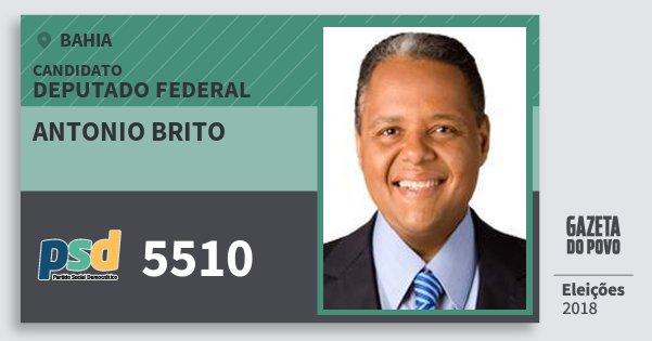Santinho Antonio Brito 5510 (PSD) Deputado Federal | Bahia | Eleições 2018