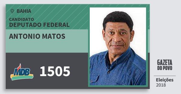 Santinho Antonio Matos 1505 (MDB) Deputado Federal | Bahia | Eleições 2018