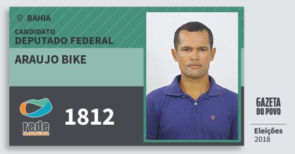 Santinho Araujo Bike 1812 (REDE) Deputado Federal | Bahia | Eleições 2018