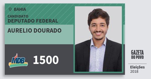 Santinho Aurelio Dourado 1500 (MDB) Deputado Federal | Bahia | Eleições 2018