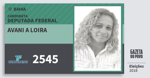 Santinho Avani A Loira 2545 (DEM) Deputada Federal | Bahia | Eleições 2018