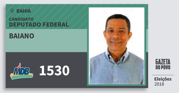 Santinho Baiano 1530 (MDB) Deputado Federal | Bahia | Eleições 2018