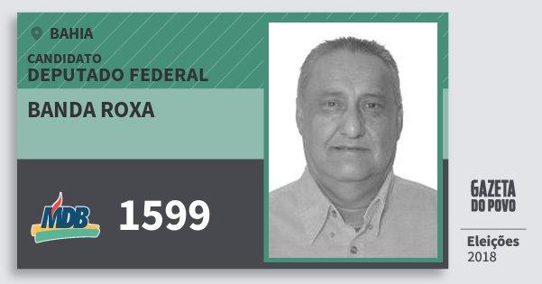 Santinho Banda Roxa 1599 (MDB) Deputado Federal | Bahia | Eleições 2018