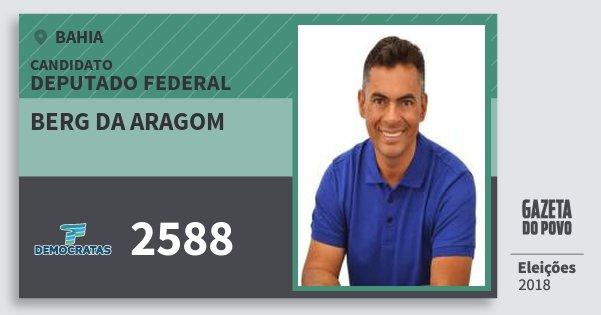 Santinho Berg da Aragom 2588 (DEM) Deputado Federal | Bahia | Eleições 2018