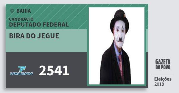 Santinho Bira do Jegue 2541 (DEM) Deputado Federal | Bahia | Eleições 2018