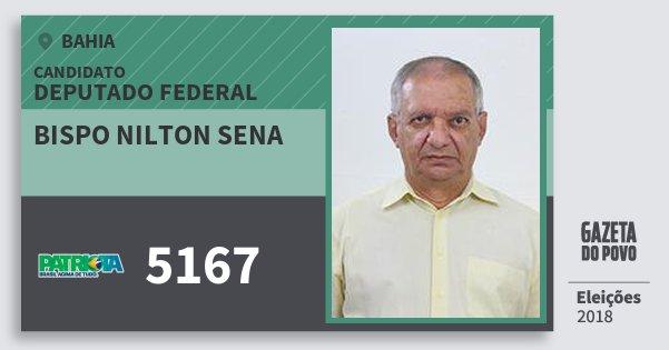 Santinho Bispo Nilton Sena 5167 (PATRI) Deputado Federal | Bahia | Eleições 2018
