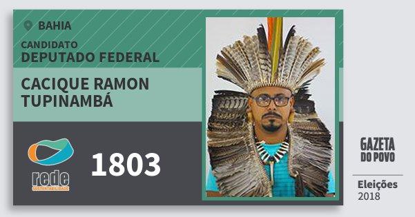 Santinho Cacique Ramon Tupinambá 1803 (REDE) Deputado Federal | Bahia | Eleições 2018