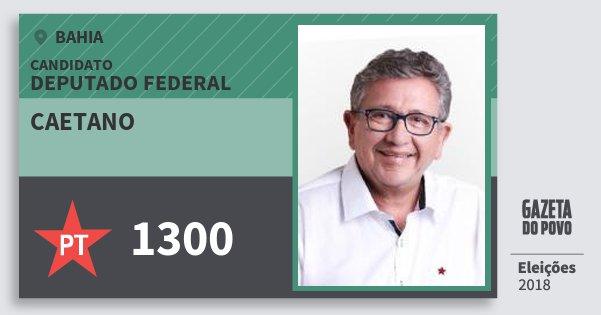 Santinho Caetano 1300 (PT) Deputado Federal | Bahia | Eleições 2018