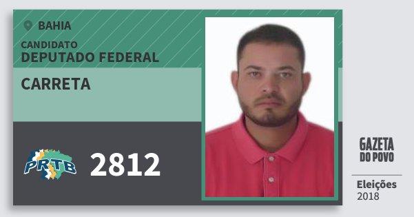 Santinho Carreta 2812 (PRTB) Deputado Federal | Bahia | Eleições 2018