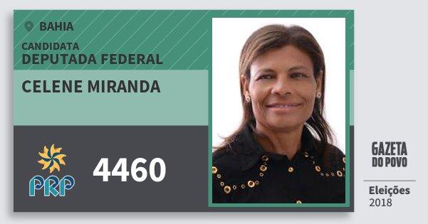 Santinho Celene Miranda 4460 (PRP) Deputada Federal | Bahia | Eleições 2018