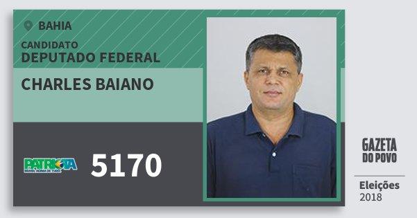 Santinho Charles Baiano 5170 (PATRI) Deputado Federal | Bahia | Eleições 2018