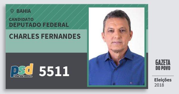 Santinho Charles Fernandes 5511 (PSD) Deputado Federal | Bahia | Eleições 2018