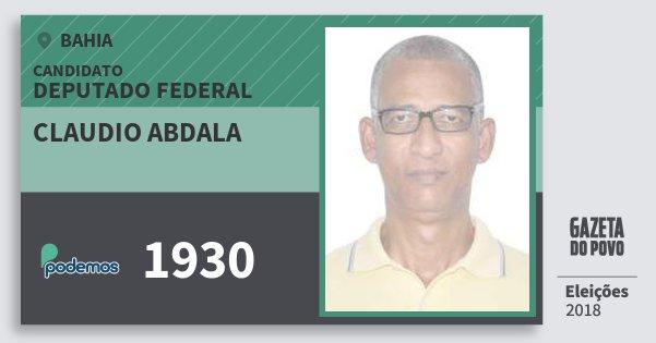 Santinho Claudio Abdala 1930 (PODE) Deputado Federal | Bahia | Eleições 2018