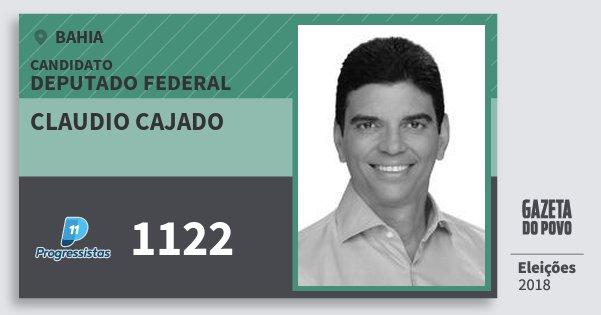 Santinho Claudio Cajado 1122 (PP) Deputado Federal | Bahia | Eleições 2018