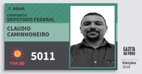 Santinho Claudio Caminhoneiro 5011 (PSOL) Deputado Federal | Bahia | Eleições 2018