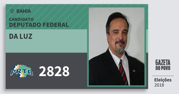 Santinho da Luz 2828 (PRTB) Deputado Federal | Bahia | Eleições 2018