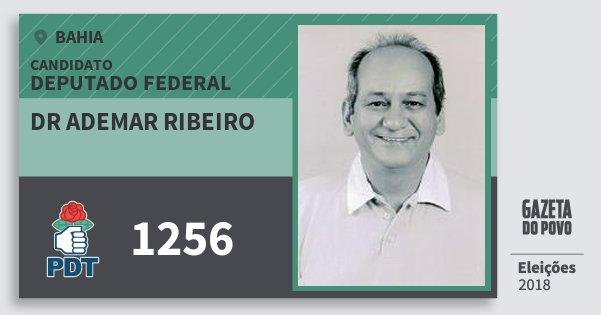 Santinho Dr Ademar Ribeiro 1256 (PDT) Deputado Federal | Bahia | Eleições 2018