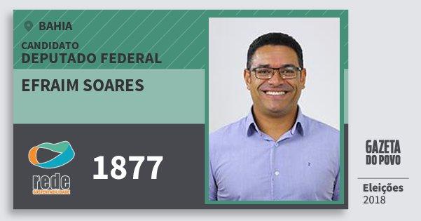Santinho Efraim Soares 1877 (REDE) Deputado Federal | Bahia | Eleições 2018