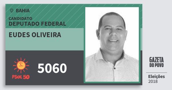 Santinho Eudes Oliveira 5060 (PSOL) Deputado Federal | Bahia | Eleições 2018