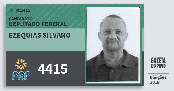 Santinho Ezequias Silvano 4415 (PRP) Deputado Federal | Bahia | Eleições 2018