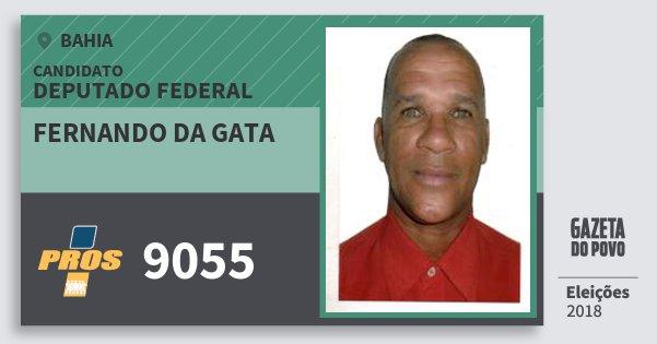 Santinho Fernando da Gata 9055 (PROS) Deputado Federal | Bahia | Eleições 2018