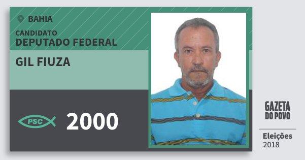 Santinho Gil Fiuza 2000 (PSC) Deputado Federal | Bahia | Eleições 2018