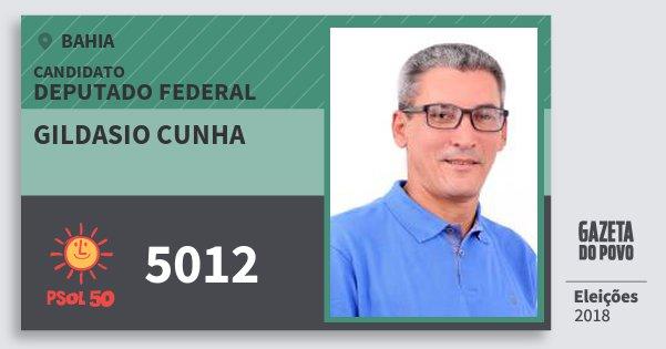 Santinho Gildasio Cunha 5012 (PSOL) Deputado Federal | Bahia | Eleições 2018