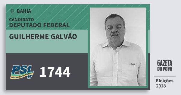 Santinho Guilherme Galvão 1744 (PSL) Deputado Federal | Bahia | Eleições 2018