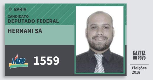 Santinho Hernani Sá 1559 (MDB) Deputado Federal | Bahia | Eleições 2018