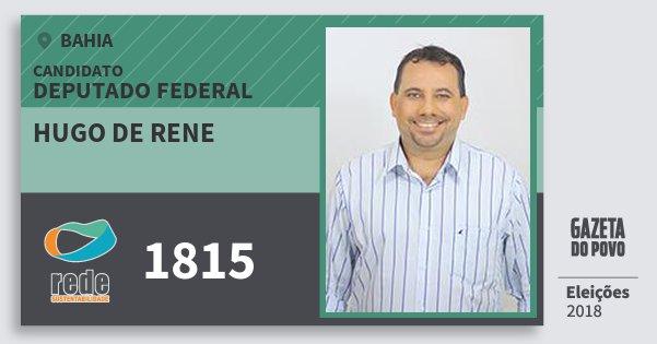 Santinho Hugo de Rene 1815 (REDE) Deputado Federal | Bahia | Eleições 2018